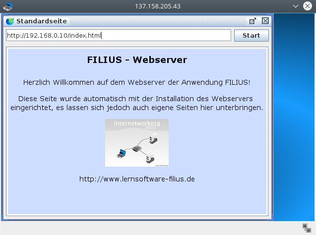 Browser gestartet