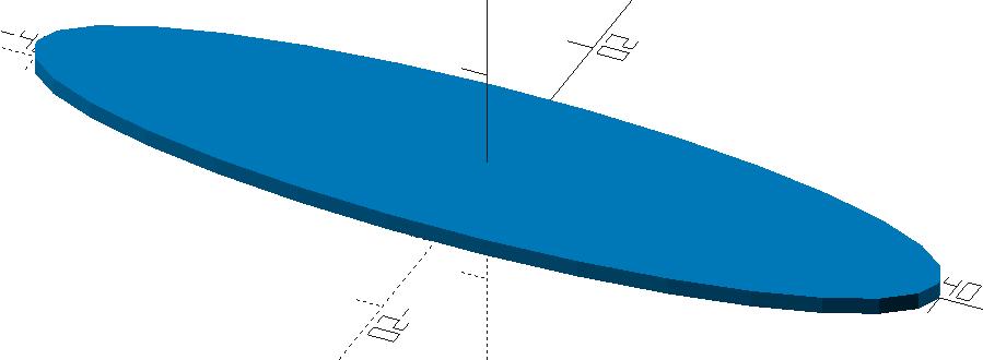 Zylinder mit elliptischer Grundfläche