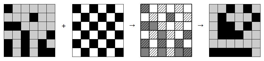 Maske 1 auf einen Ausschnitt des SCHULHOF-Beispiels angewendet