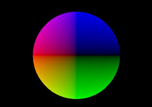 Kugel in drei Farben