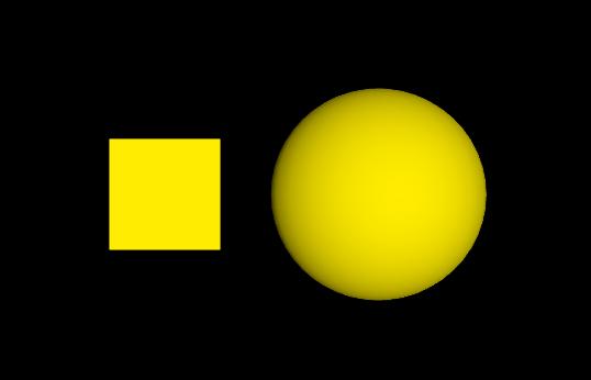 Goldener Würfel und Kugel