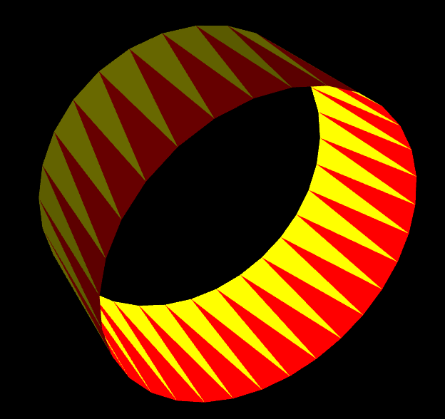 Ring aus Dreiecken