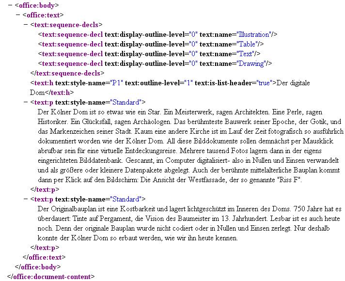 Kölner Dom - OpenDocumentFormat