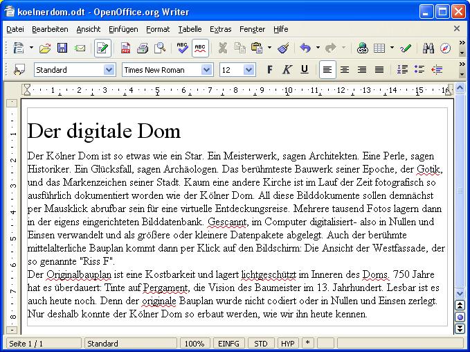 OpenOffice - Kölner Dom