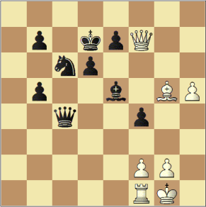 Spielstand einer Schachpartie