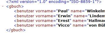 XML-Datei mit Attributen