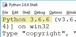 Python-Version in der IDLE