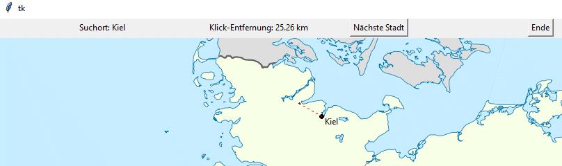 Spielbeispiel mit der Lokalisierung von Kiel