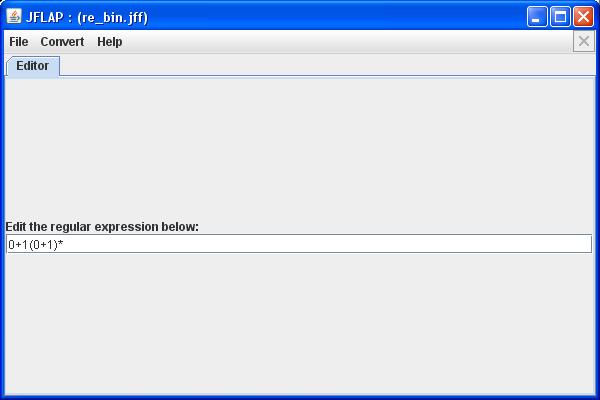 JFlap - Regulärer Ausdruck