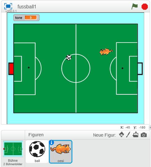 Bühne mit Fußball