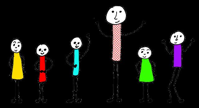Kinder und Erwachsener