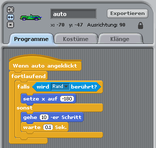 Programm - Auto